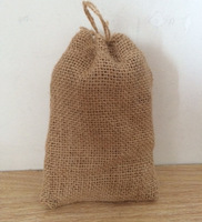 "Size:10X15cm(4""x6""),Nature Jute Burlap gift bag with jute drawstring,Custom size and logo acceptable"