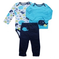 FREE SHIPPING! 2014  baby boy 3-piece Set  pants+Climb clothes with  T shirt +Long sleeve climb clothes  100% Cotton