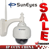 SunEyes 720P 1.0MP Megapixel HD IP Camera Outdoor Wireless Wifi Pan/Tilt/Zoom support P2P Plug and Play SP-TM06WP