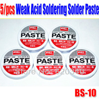 Freeshipping 5pcs/Lot Weak Acid Soldering Solder Paste Solder Flux Grease Paste Goot BS-10