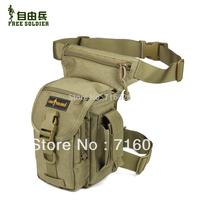 2014 Free Soldier Outdoor Multifunctional Waist Pack Men Travel Messenger Bags Motor Leg Belt Tactical Bag Military Equipment