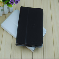 Free Shipping Upscale Lightweight Protective Leather Case Stand Cover For Hyundai T7/T7s -Black  and White