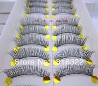 Lengthening Natural 10 Pair long False Eyelashes Fake Eye Lashes Voluminous Makeup SL13 Free Shipping