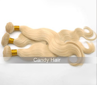 Top quality malaysian hair extensions body wave 2pcs lot blonde virgin hair weaves 613 human hair weave wavy queen hair products