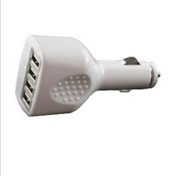 Free shipping 4USB Ports Car Charger for iPad iPhone iPod touch