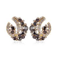 new fashion Wholesale and Retail  High Quality Black  rhinestone stud Earrings Fashion women jewelry