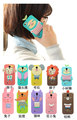 Fashion Romane Hello Geeks 3D Cartoon Animals Silicone Cover For iPhone5 5G Qute Rubber Soft Case