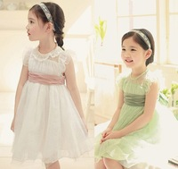 Fashion trend very beautiful design and good quality princess style girl's elegant  lace dress