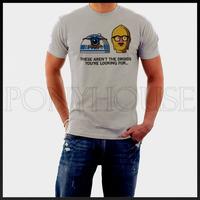 Free shipping Star wars c3po-r2d2 T-shirt male short-sleeve top new arrival Fashion Brand t shirt men 2013 summer high quality