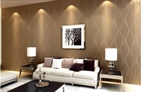 Television background wall deep embossed PVC wallpaper roll ,free ship