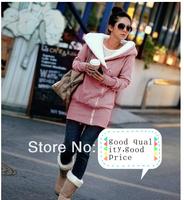2014 Brand New Korean Women's Hooded Cotton Jacket Wild Thick Warm Coat Cotton 1pc/lot 4 Colors