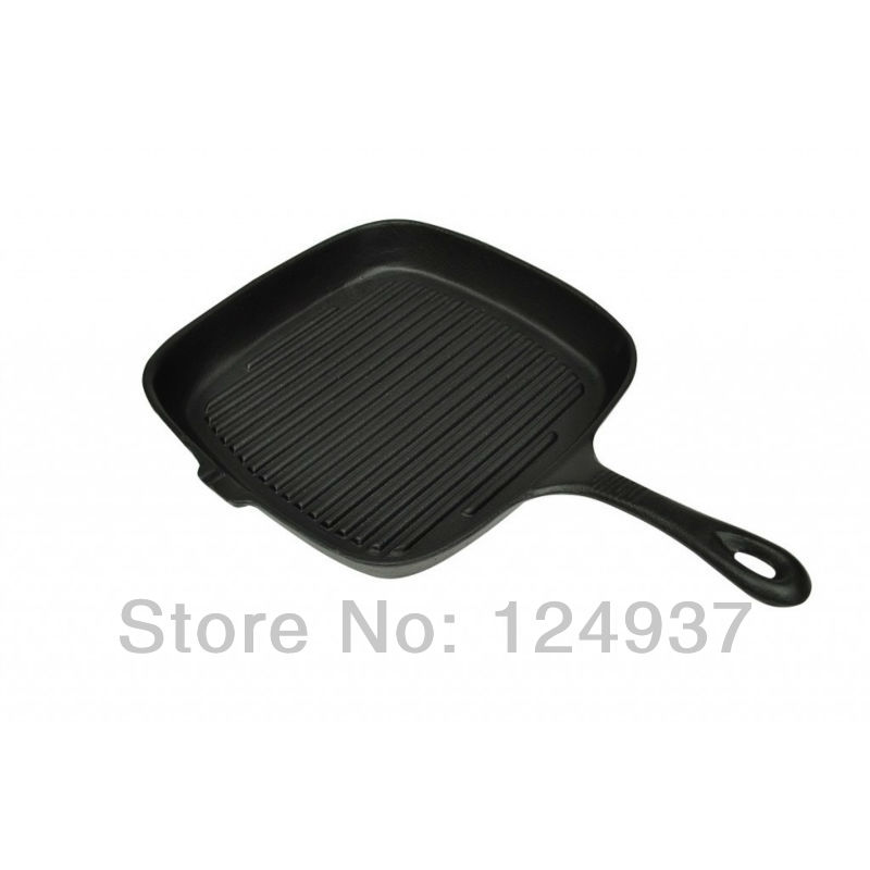 Free shipping from Netherlands Kitchen Cast Iron Grill Pan Frying Pan Square 36x25cm(China (Mainland))
