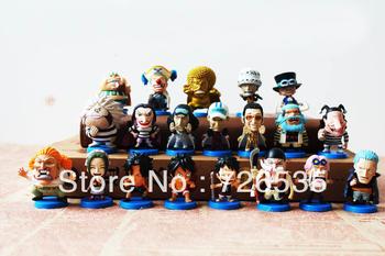 20pcs/set anime figure One Piece toys for children birthday gift