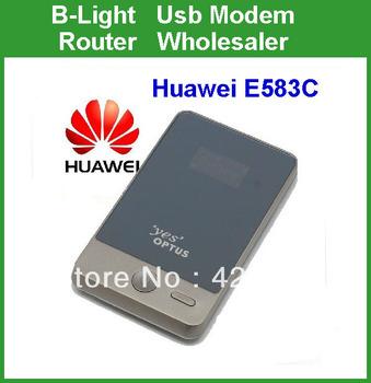 Free Shipping HUAWEI E583C Portable 3G HSDPA MIFI WIFI Mobile Broadband Wireless Modem Router 7.2MBPS 3g Router