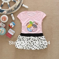 Free postage, retail clothing hot girls wear summer dress, children's clothing(yu2013005)