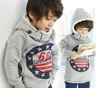 Free Shipping boys kids jacket coat  winter clothing boy  children long-sleeved gray hoodie boys hoodie tops Fit 2-6yrs Retail