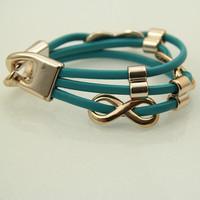 Sunshine jewelry store fashion infinity chams leather bracelets S173 ( $10 free shipping )