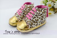 Free shipping 12 Pairs Baby First Walkers Infant Shoes Cotton Sole Canvas Shoes Leopard  Prewalker Fashion Footwear  ZY13052101
