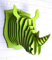 Rhino head for wall art,novelty items of wood,crafts wood decoration,head animal,crafts home,mdf decor living room,rhino items