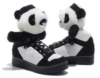 Leopard tail shoes for men and women Jeremy Scott fluffy poodle shoes