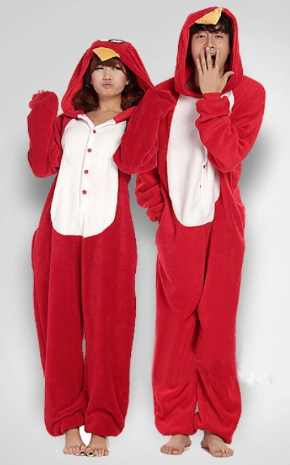 audlt onesie pjs bird children pajamas kids suit set Warm Sleepwear Ladies Nightwear unisex pyjamas by0022 Bird(China (Mainland))