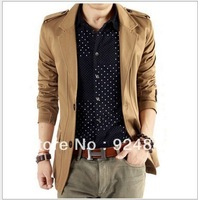 2014 new wave of Korean version of casual men's Slim suit small suit jacket