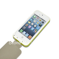 High quality 3200mah Portable Power Bank Charger Case with PU top cover for iphone 5 5g (1pcs) Free shipping
