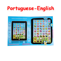 Free shipping Ipad tablet computer learning Touch kid learning toy English-Portuguese language toy 1pcs