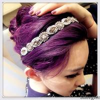 Sheegior America Fashion gorgeous handmade beads rhinestone Charm headbands women hair jewelry wedding accessories Free shipping