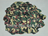 Lots of 50pcs New Standard Guitar Picks Plectrums Celluloid Heavy 1mm Camouflage Green