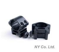 "1 Pair 25.4mm 1"" Ring Quick Detachable Weaver Dovetail 20mm Picatinny Rail Mount Ring for Flashlight & Hunting Free Shipping"