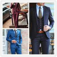 Free  shipping! men clothing slim suit  wedding suit set white collar commercial work wear  mens rhinestone linght  clothing