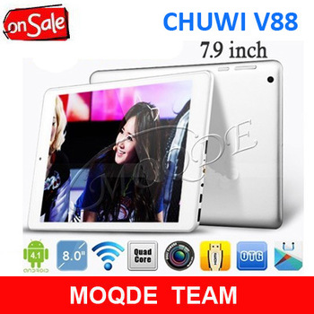 "Cheapest 7.9"" Chuwi V88 Pad Mini Rockchip RK3188 Quad Core 1.8GHz Android 4.1 Tablet PC"
