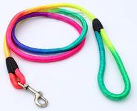 "10PCS/Lot Free Shipping Rainbow Nylon Dog Circular Harness Lead Collar for small dogs 48"" Lengthgs P64-10"