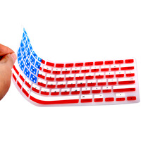Free Ship 2013 hot new ultra-Thin USA America FLAG pattern Silicone Keyboard Cover Skin for Macbook Pro 13 15 17 inch US LAYOUT