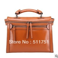 New arrival fashion 2013 cow leather fashion genuine leather handbags classic famous brand designer bags for women,retail