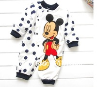 Free shipping baby's cartoon rompers jumpsuit clothing for kids infant long sleeved romper baby clothes BLACK