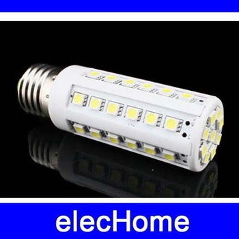 Hot! E27 7W 44 PCS 5050 SMD Corn Light Lamp Bulb AC 210-240V 220V 230V 240V LED spotlight  White or Warm White Free Shipping