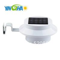 8 x Solar Powered 3LED Fence Gutter Light Outdoor Garden Yard Wall Pathway Lamp