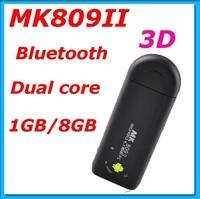MK809 II Android 4.4.2 Mini PC TV Stick Rockchip RK3066 1.6GHz Cortex A9 Dual core 1GB RAM 8GB Bluetooth MK809II 3D TV Box