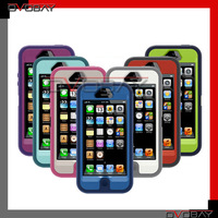 Silicon PC Case for iPhone 5, New Retail Box and Belt Clip  Silicon+pc, free China air mail shipping
