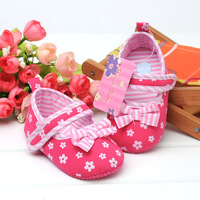 Big red flowers zebra baby shoes, toddler shoes foreign trade.free shipping. 6 pairs/lot
