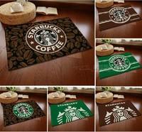 Tapete Para Banheiro Carpet Kitchen New! Home Decoration Door Mat Carpet Starbucks Series Flannel Slip for Windows And Pad Floor