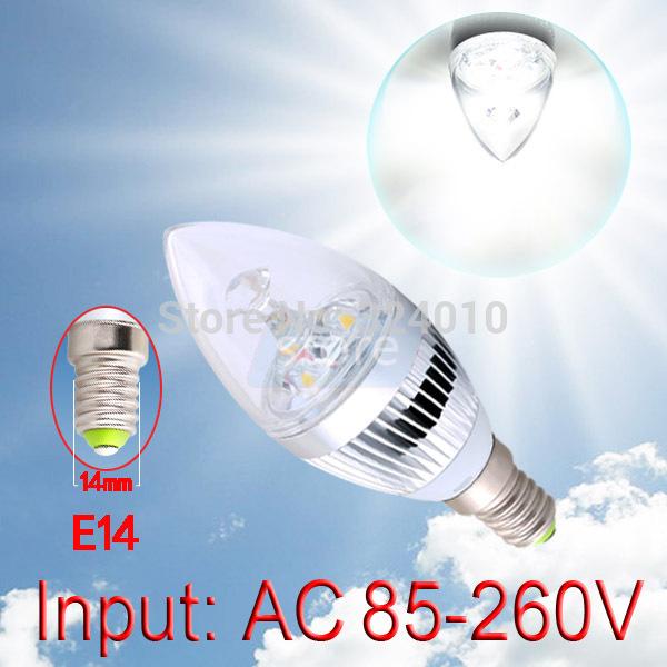 2pcs 6W 3x2W Pure White E14 Home Candle Bulb LED Light Lamp 85-265V 110V 220V 230V Warm White(China (Mainland))