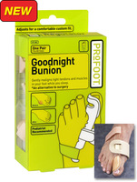 Hallux valgus Retail packaging Profoot Goodnight Bunion Toe Positioners As Seen On TV Bunion Regulator Toe correction device