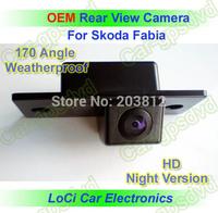 Free shipping! HD Rear View Skoda Fabia CCD night vision car reverse camera auto license plate light camera