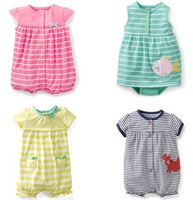 Retail, Carter's and Others Brand  Baby Girls Flowers&Animal Bodysuit , Baby Summer Jumpsuit For Toddlers,Freeshipping