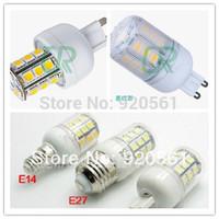 FEDEX shipping E27 3.8W 310Lumen 27leds 5050 SMD LED Warm White/White Light corn lamp DC10~30V