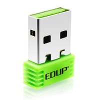 Free Shipping   EDUP EP-N8508 in Green Color Mini Portable Mini 802.11N 150M WIFI USB Wireless Adapter Network Card Tiny Size