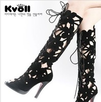 Женские сандалии Kvoll 2013 17cm highs female shoes rivet wedges sandals platform shoes ultra high heels